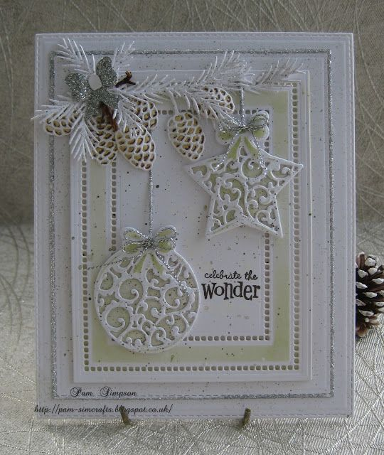pamscrafts: Baubles and fir cones.