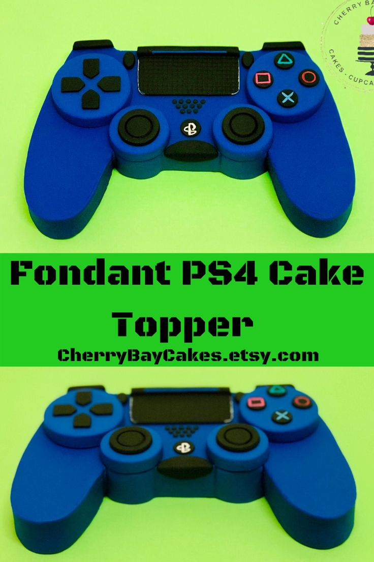 Fondant ps4 gaming controller cake topper in 2020 video