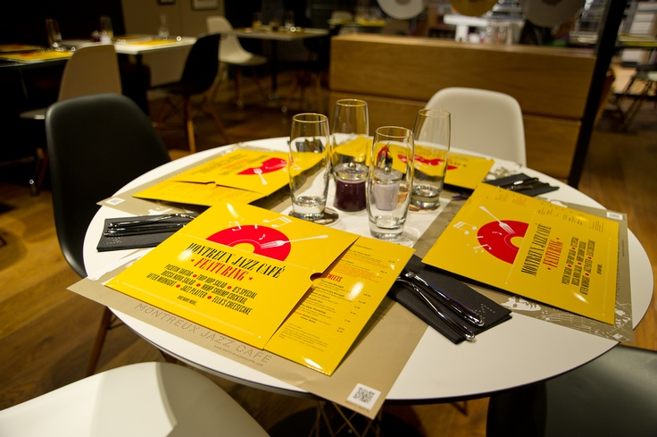 Menus at Montreux Jazz Café (Harrods) © 2012 FFJM - ArnaudDERIB