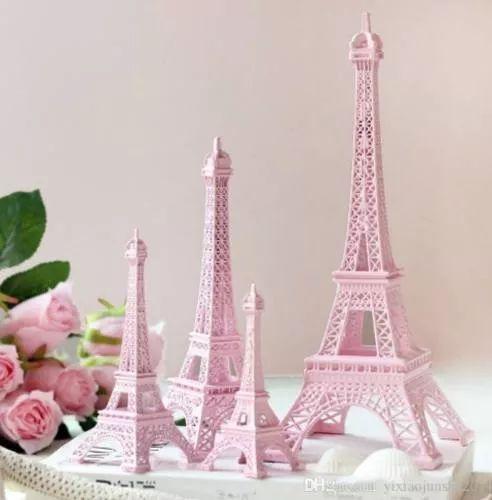 torre eiffel miniatura rosa frete grátis 18cm 100 unid