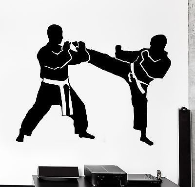 Wall Stcker Sport Karate Taekwondo Fight Fighting Vinyl Decal (z3053)
