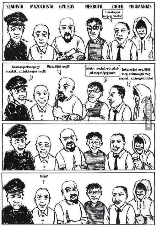 A szadista, a mazochista, a nekrofil, a gyilkos és a többi