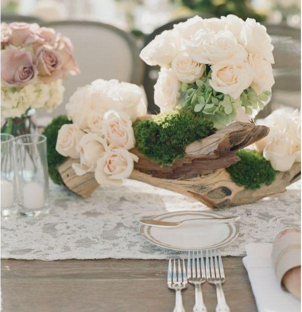 Floral centerpiece vintage wedding pinterest