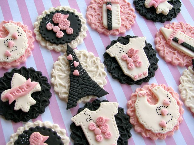 Parisian Baby Shower Cupcake Toppers By Lynleeu0027s Petite Cakes, Via Flickr