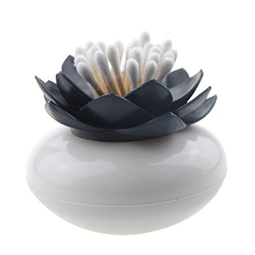 Gracallet® Black Lotus Cotton Swab Holder, Small Q-tips T