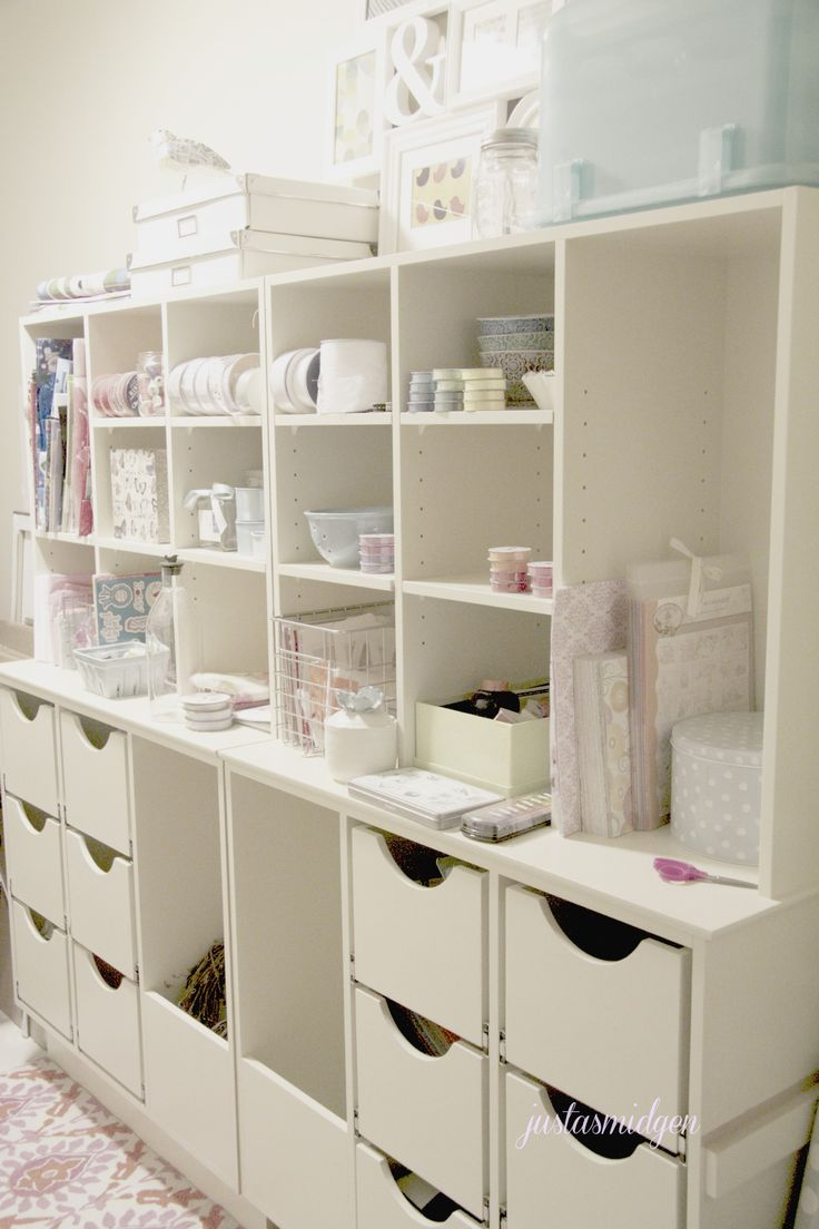 1000 images about craft corner on pinterest craft for Corner craft table with storage