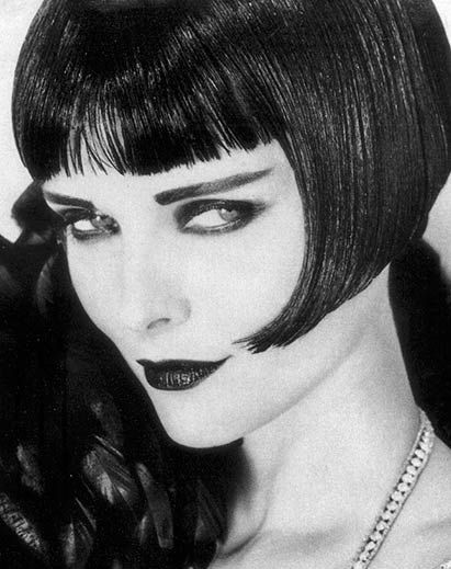 Michelle Pfeiffer channels Louise Brooks as Lulu in Pandora's Box, makeup by Kevin Aucoin, photo by Herb Ritts