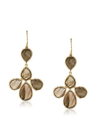 62% OFF Argento Vivo Labradorite Petal Drop Earrings