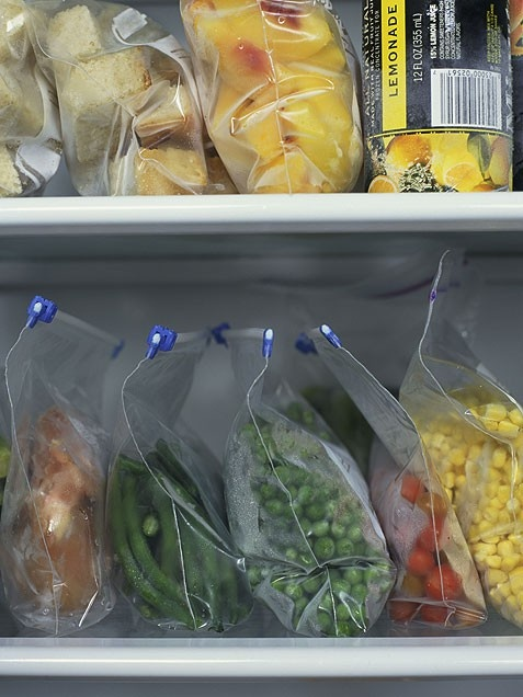 Use Your Freezer    Your freezer can help lower your food costs like nothing else. Flash-freezing is one of my favorite ways to store fresh produce, meat and baked goods. Flash-freezing freezes each piece separately instead of freezing them into one big lump.