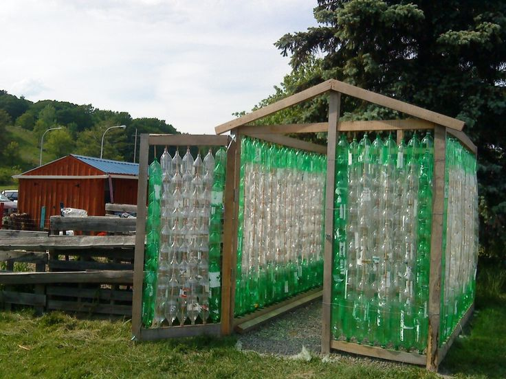 Como construir uma estufa de garrafa Pet 5