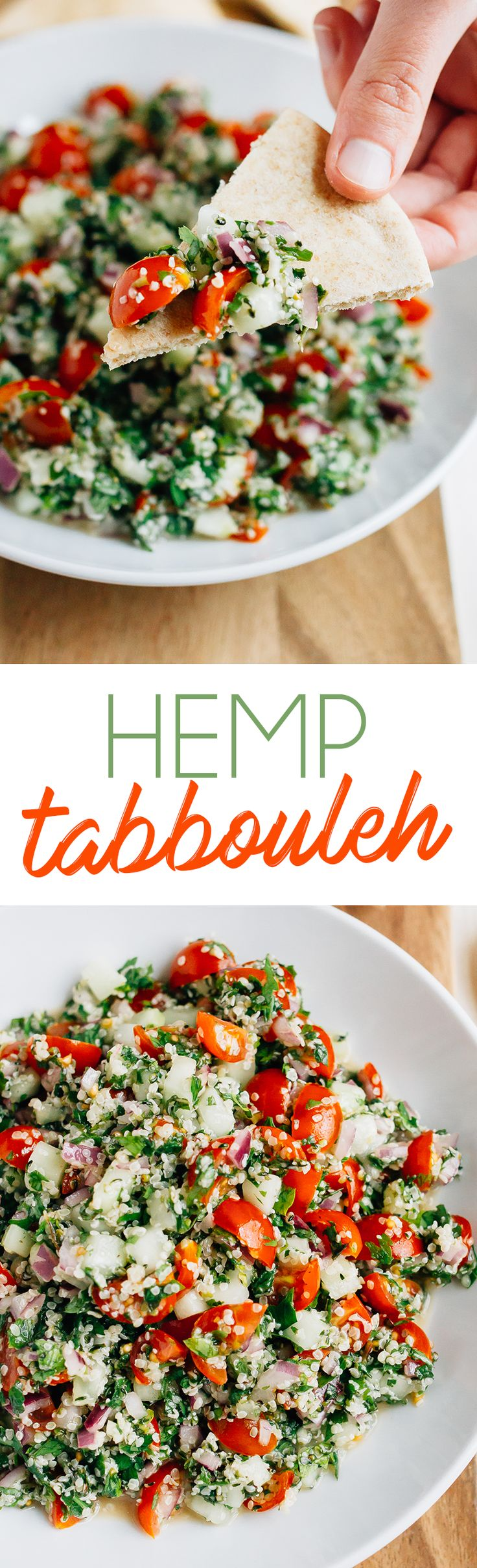 A fun spin on traditional tabbouleh, this hemp tabbouleh is loaded with fresh herbs, veggies and protein. Plus, it's vegan, grain-free and gluten-free. Made in partnership with @manitobaharvest. #ad