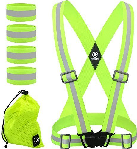Reflective Vest. Reflective vest, reflector vest. Reflective safety vest with reflective suspenders to use as reflective running vest, reflective cycling vest, reflective motorcycling vest for running woman and running men, cycling woman and cycling man. Reflective gear vest to wear over running shirt, running clothes, running jacket, running jersey, cycling gear: cycling clothes, cycling shirt, cycling jacket, cycling vest, walking vest. Best reflective safety bands for running safety...