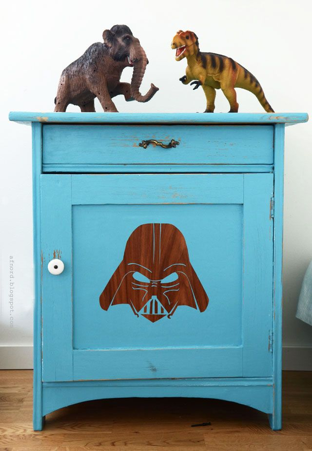 Update your old cupboard with star wars.