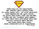 schöner Spruch für Vatertag, Supermann von Anita Menger, Superman, Papa kann alles