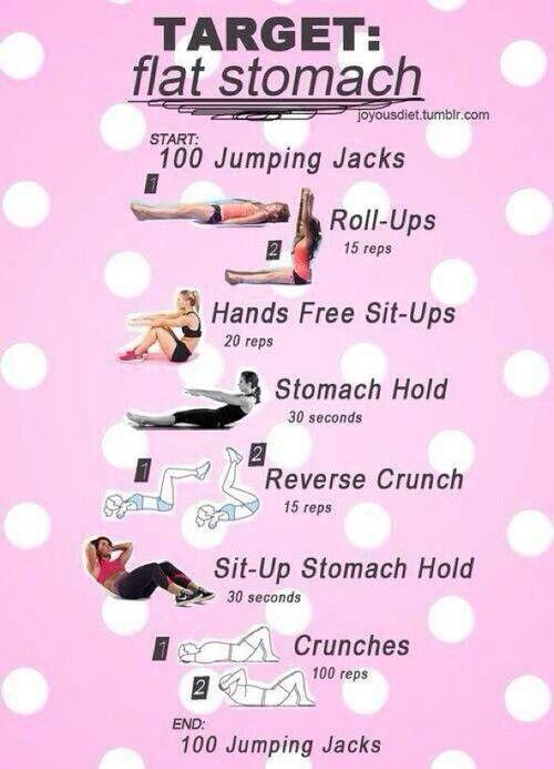 Flat stomach challenge | Fitness | Pinterest | Flats, Flat