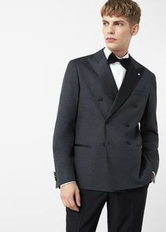 Veste smoking homme double boutonnage