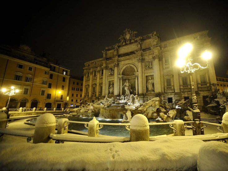 trevi fountain, rome, winter. I love it there..def wanna go in the winter sometime
