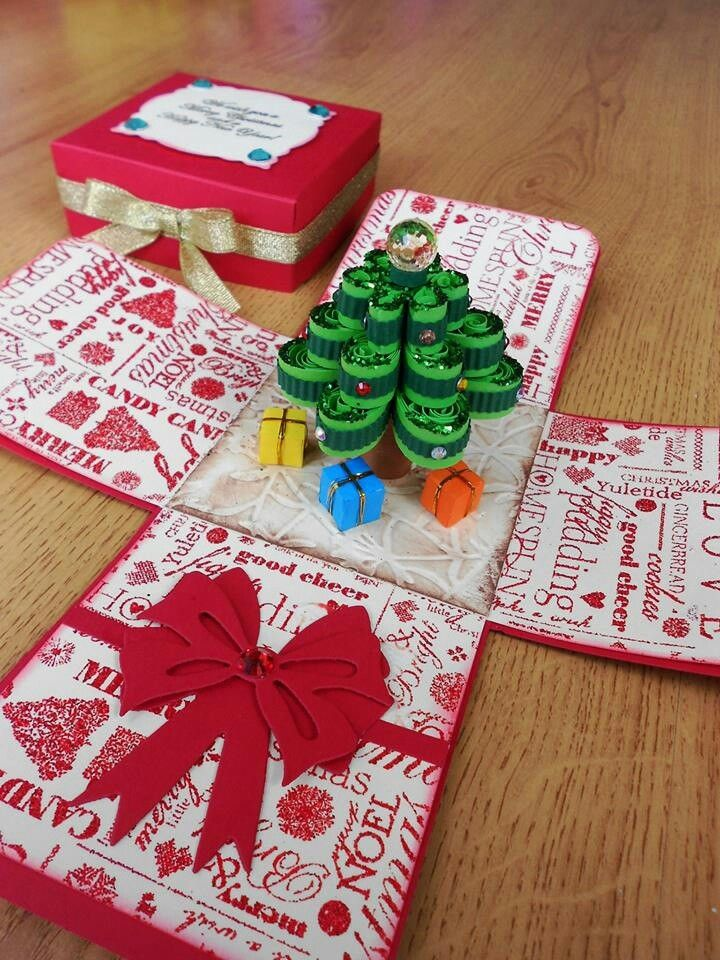 Christmas tree exploding box. Made in Ireland.