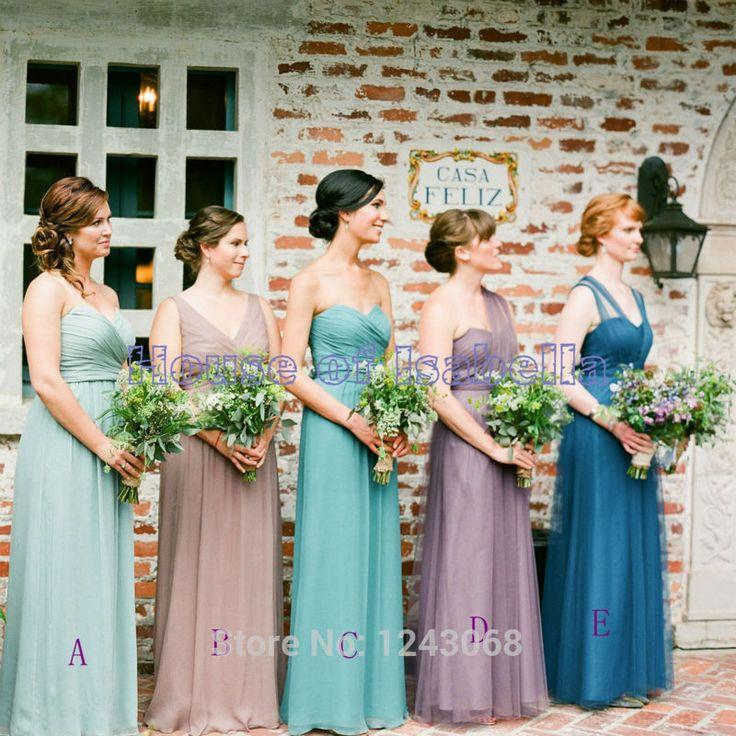 2015 sparkly mint greebn lange bruidsmeisjekleding converteerbare sexy backless chiffon een schouder vestido de dama de honra ot147