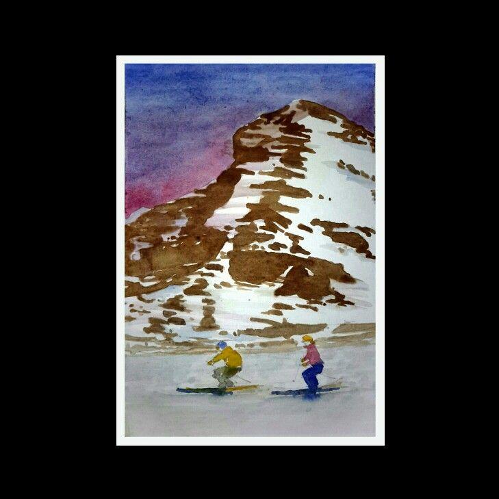 Skiiiii... | watercolor on paper