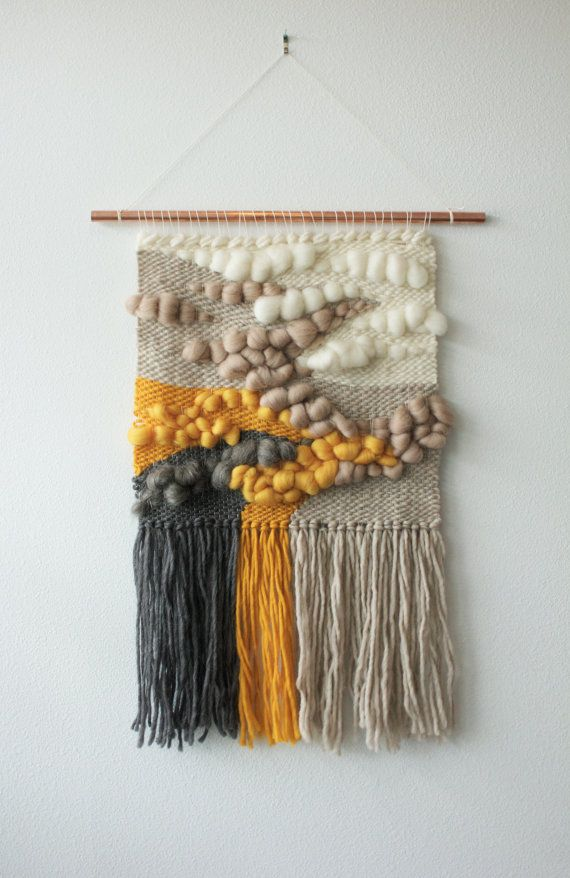 手机壳定制shop online walmart layaway   policy Woven Wall Hanging with Roving Wool and Wool by wearebarnfield