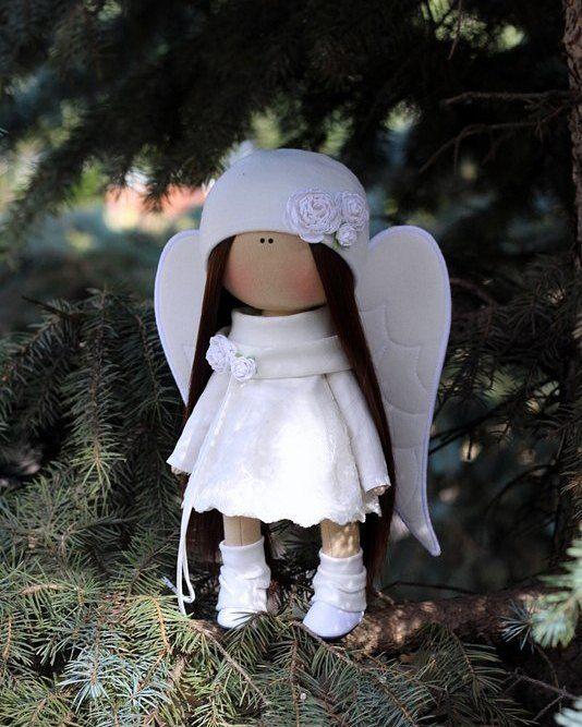 Ангелок продается! #littledolls #handmade #куклыольгипономаревой #ангел #ручная_работа #кукла