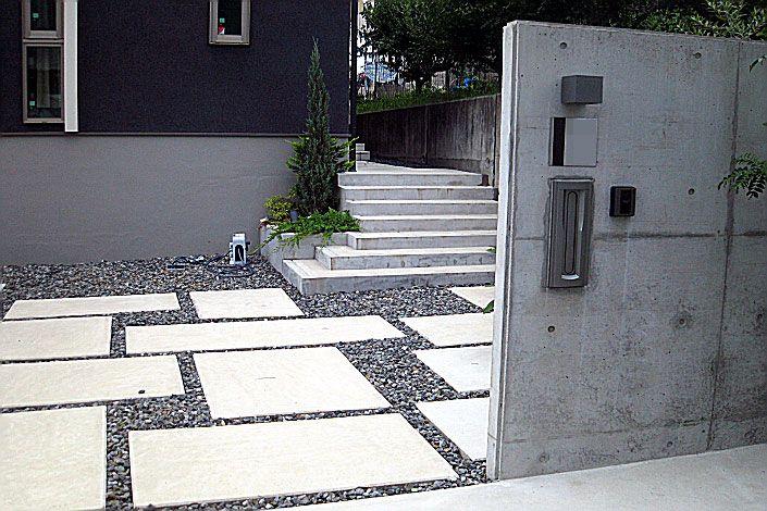 施工事例:愛知県 日進市 S様邸 新築外構(シンプルモダン)|オールグリーン