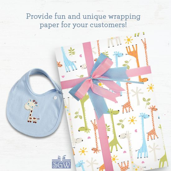 We have an amazing selection of baby gift wraps, perfect for birthdays and baby showers!  #Baby #Giftwrap #Gifts