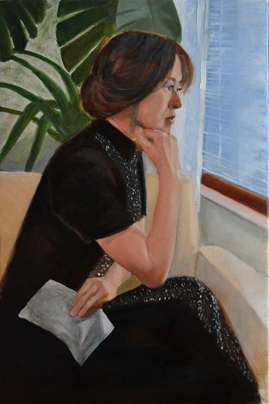 Peter Valve: Letter, figurative oil painting