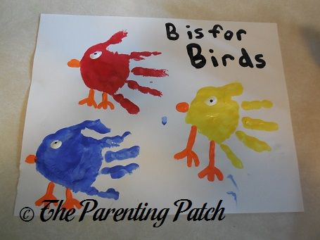 B Is for Birds Handprint Craft | Parenting Patch