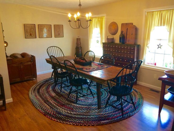 31 best primitive dining rooms images on pinterest for Primitive country dining room ideas
