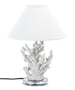 VERDUGO GIFT 10015678 Coral Table Lamp, White - - Amazon.com