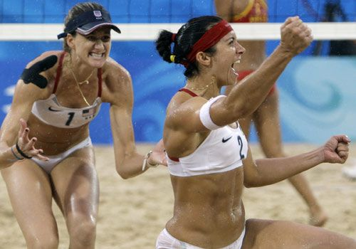 Misty May-Treanor and Kerri Walsh Olympic Gold Medal Volleyball players