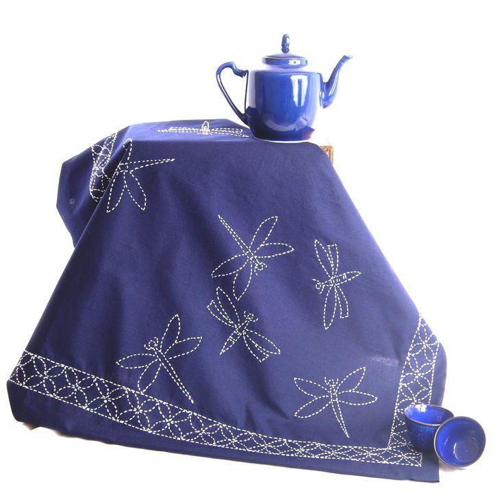 Sashiko Dragonfly Cloth Pattern