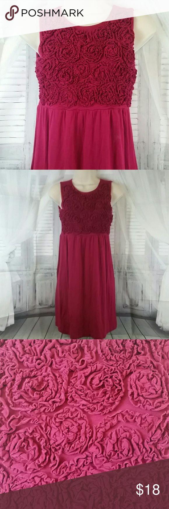 Fuschia Rose Pattern Mini Dress Fuschia Rose Pattern Mini Dress EUC Size Petite Small Dresses Mini