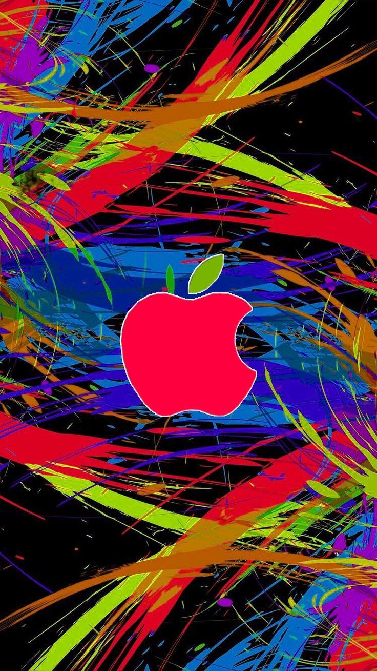 Color Brush Apple Apple wallpaper, Apple logo wallpaper