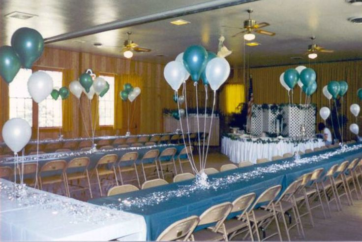 Halls decorated for events and wedding photos above for Baby shower hall decoration