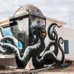 Erriadh, un pueblo en la isla de Djerba (destino turístico por su belleza) ha sido transformado por maravillosas creaciones de artistas callejeros del mundo