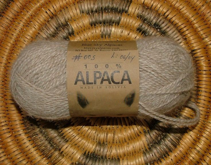 Blue Sky Alpacas Made in Bolivia Color No 005 Lot No 06/04 Tan Beige Crochet Knit by 3CsTwistedStitchers on Etsy