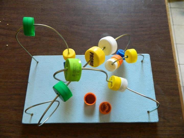 Brinquedo Montessoriano reciclado