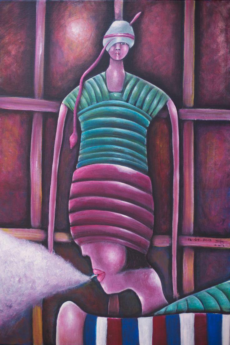 """VWL/Twen/014 (Paris 2012 """"After the  War"""")-Acrylic on canvas/ Acrylique sur toile/Acrylico  sobre tela (54X73cm)"""