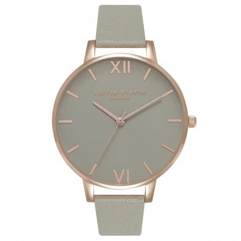 Olivia Burton Grey Dial and Rose Gold OB15BD61