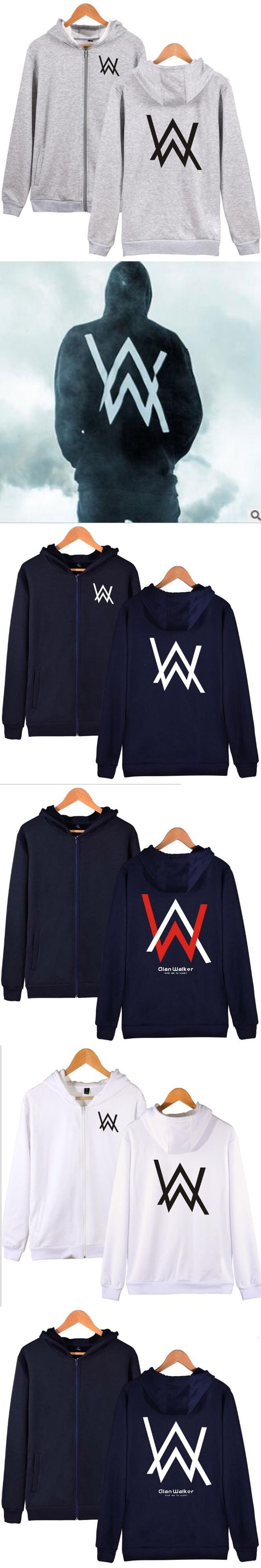 Alan Walker Hooded Cardigan Men Hoodies Sweatshirt  Winter Jackets and Coats Long Sleeve Zipper Hoody Sportswear Male Tracksuits