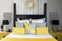 Image result for grey mustard bedroom