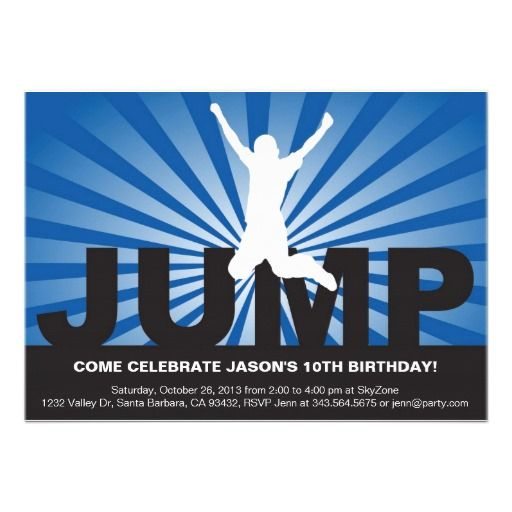 The 25 best Trampoline birthday party ideas – 12th Birthday Invitations