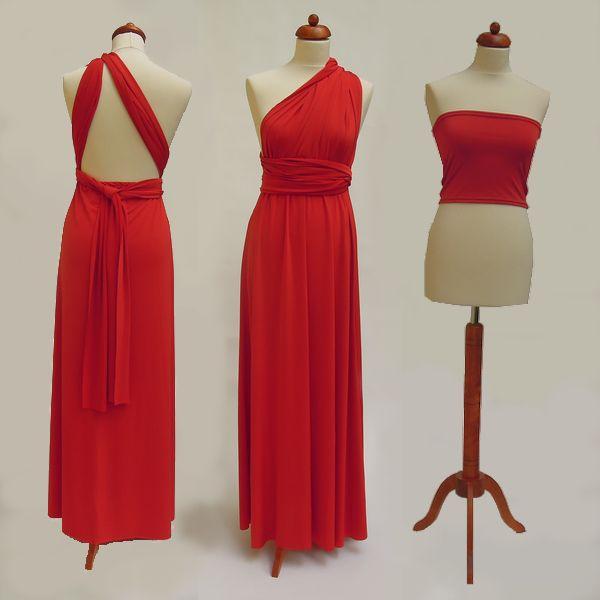 Dlouhé červené Convertibles® šaty 💃 ❤️ #cervenesatyconvertibles Každé #satyconvertibles mají k sobě bolerko/top ve stejné barvě, které si můžete vzít přímo na tělo nebo použít jako krycí díl vašeho vlastního spodního prádla. Šaty ale můžete nosit i bez něj a nechat tak vyniknout svá záda. 👌