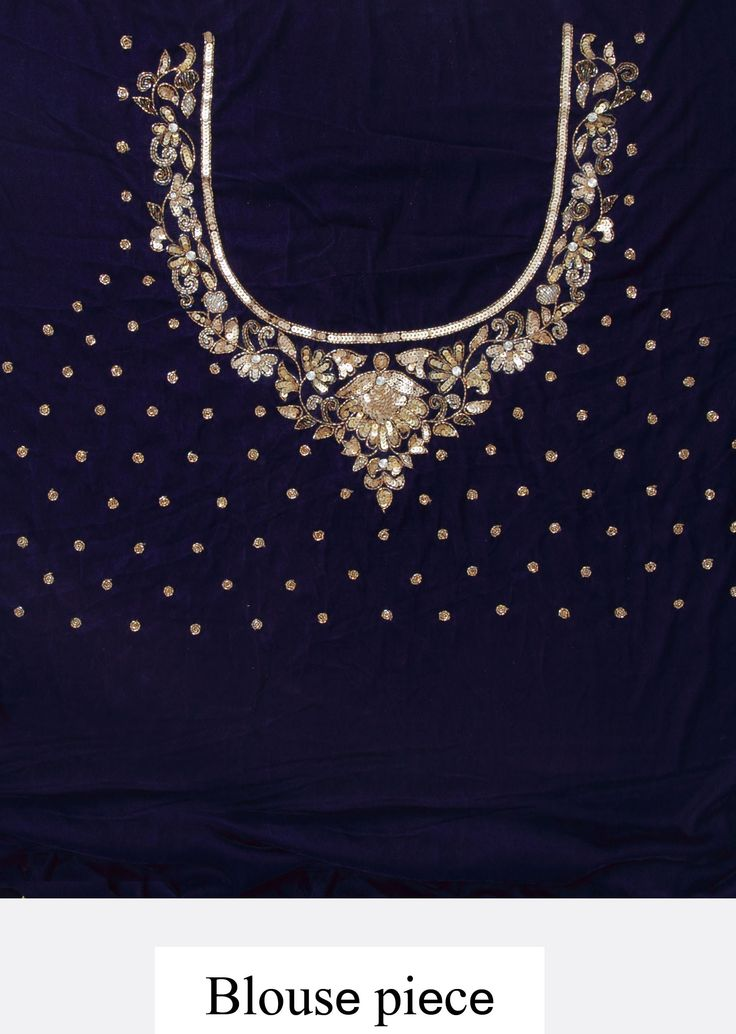 Navy blue lehenga featuring in sequence embroidery only on Kalki