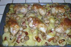 Pulpe cu cartofi si ciuperci la cuptor