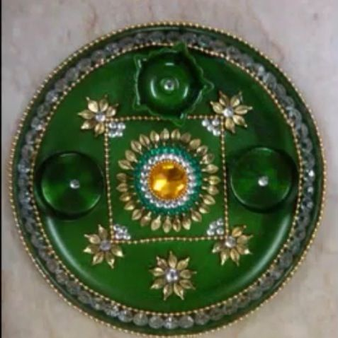 39 best images about diwali decorations on pinterest for Aarti thali decoration with pulses