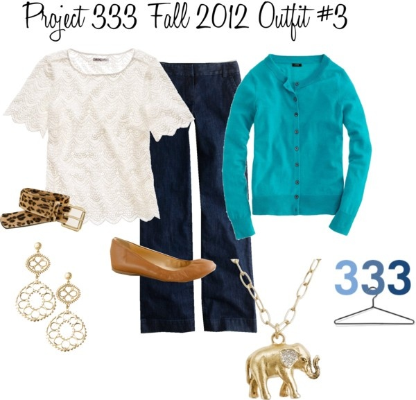"""""""Project 333 Fall 2012 Outfit #3"""" by christyscloset ❤ liked on Polyvore"""